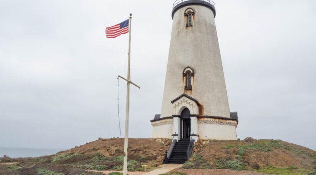 The Piecras Blancas lighthouse in Big Sur